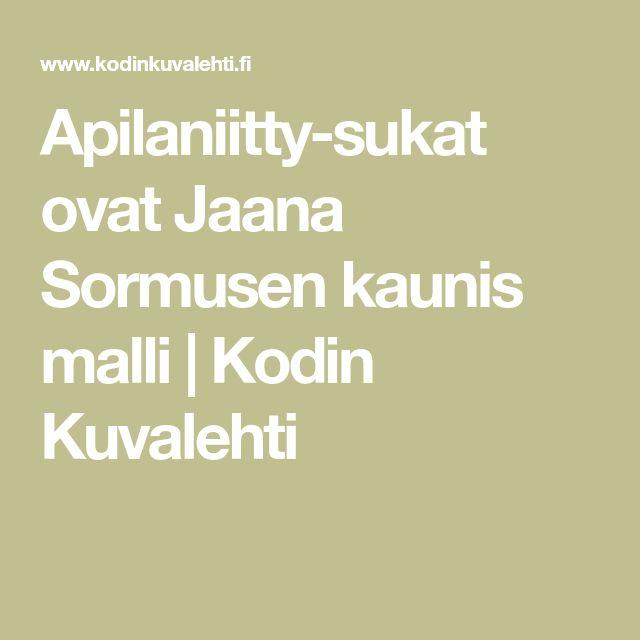 Apilaniitty-sukat ovat Jaana Sormusen kaunis malli | Kodin Kuvalehti