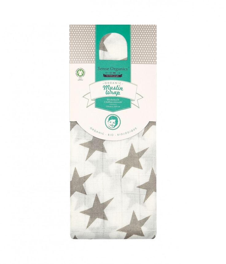 #Vita #Baby #Muslin #extra #large - #Sense #Organics - #Muslins are a must-have when having a #baby, so our extra large VITA Muslin wrap is just the right choice. Beautifully designed with a #grey #star #print and made from soft #organic #cotton #muslin, it is hard wearing, absorbent, extra thin and super fine! As well perfect for #wrapping your #baby in and using it as a light #summer #blanket.