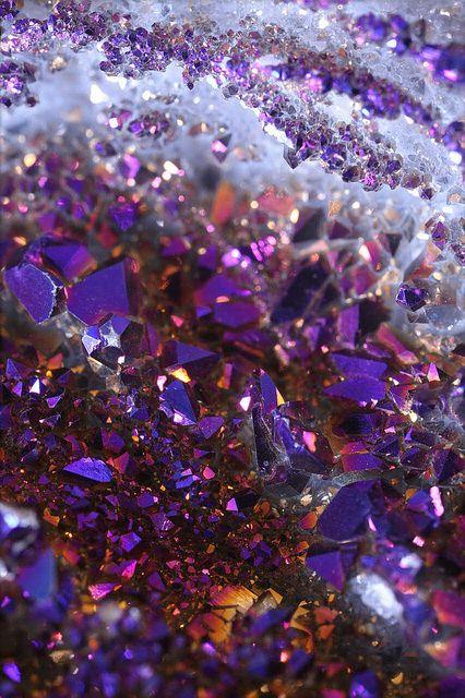 Beautiful amethyst is February's birthstone.