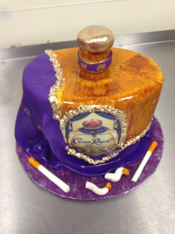 Crown Royal Bachelor Party Cake Including Edible