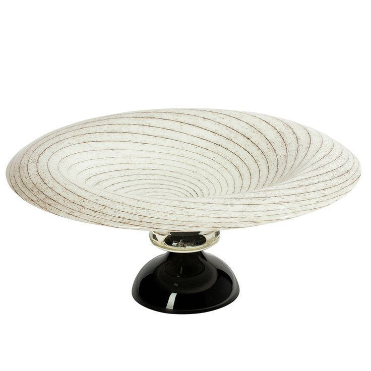 A.D. Copier & Lino Tagliapietra, Large Unique Murano Glass Tazza | From a unique collection of antique and modern centerpieces at https://www.1stdibs.com/furniture/dining-entertaining/centerpieces/