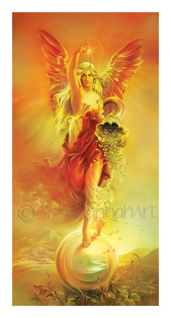 """""""ANGEL OF ABUNDANCE"""" - """"Fortune""""strenght fengshui prosperity power blessing success symbol money giclee"""