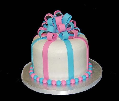 gender reveal cakes | ... cakes, cupcakes & chocolates: Pink or Blue? Another gender reveal cake