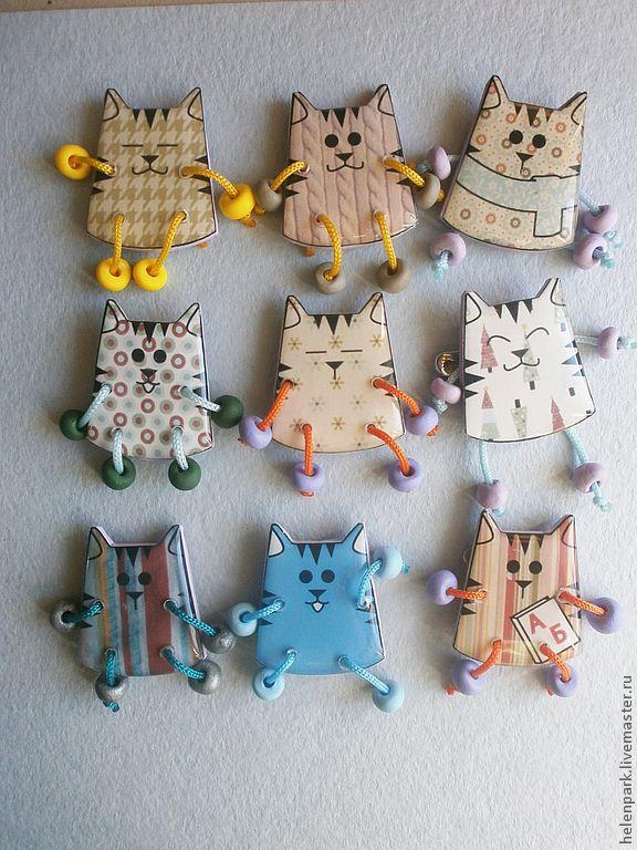 Брошь Забавные коты - брошь,коты,ручная работа,авторские украшения,украшения