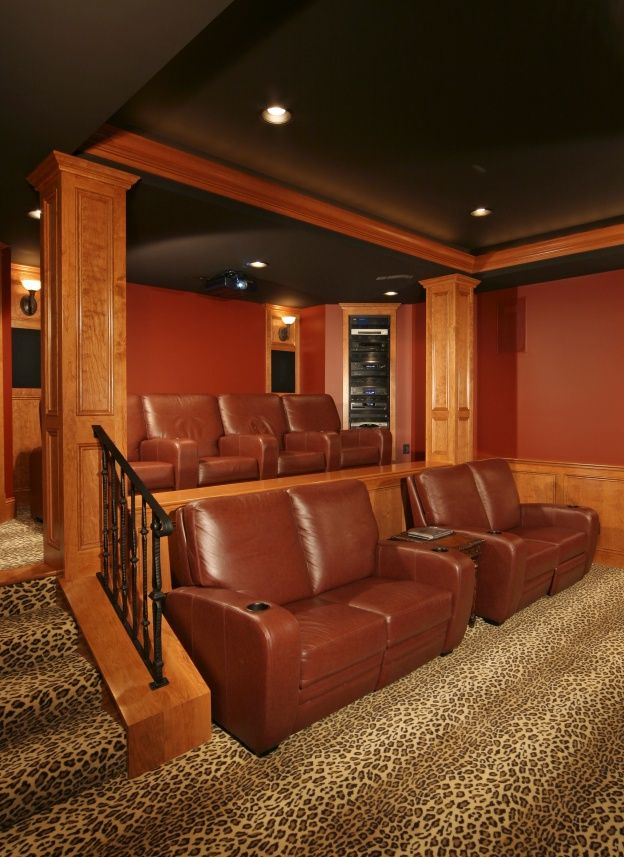 316 best images about home theater ideas on pinterest for Basement theater room