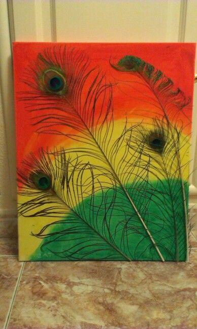 Mis pinturas#plumas#pavo real