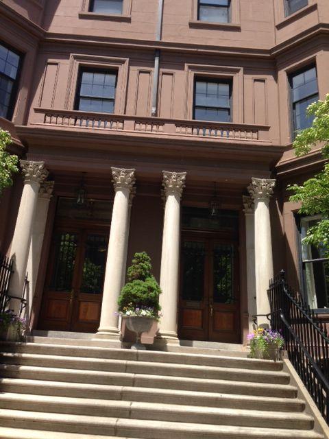 Brownstones in Boston where my heroine was born.