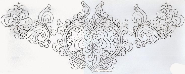 Bunad, Smykker, vev & rosemaling: Plattsøm mønster