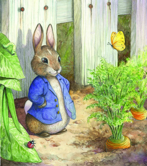 Peter Rabbit and chamomile tea always made Katie feel better.  She still loves a tea party, especially the sweets.