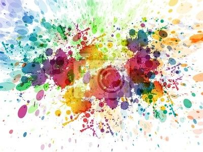 Wall Mural raster version of Abstract colorful splash background