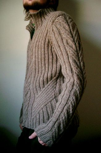 Urban aran cardigan by Jared Flood. Love the shaping on this.