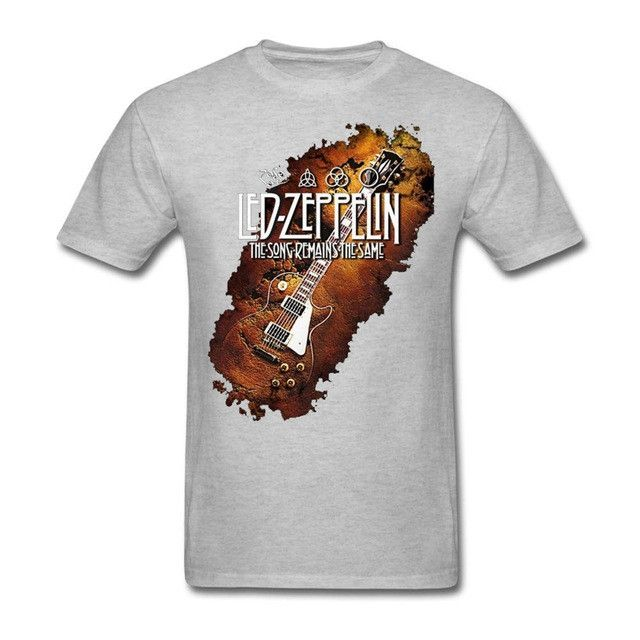 Led Zeppelin Music Rock Band Legend England Les Paul Guitar T Shirts