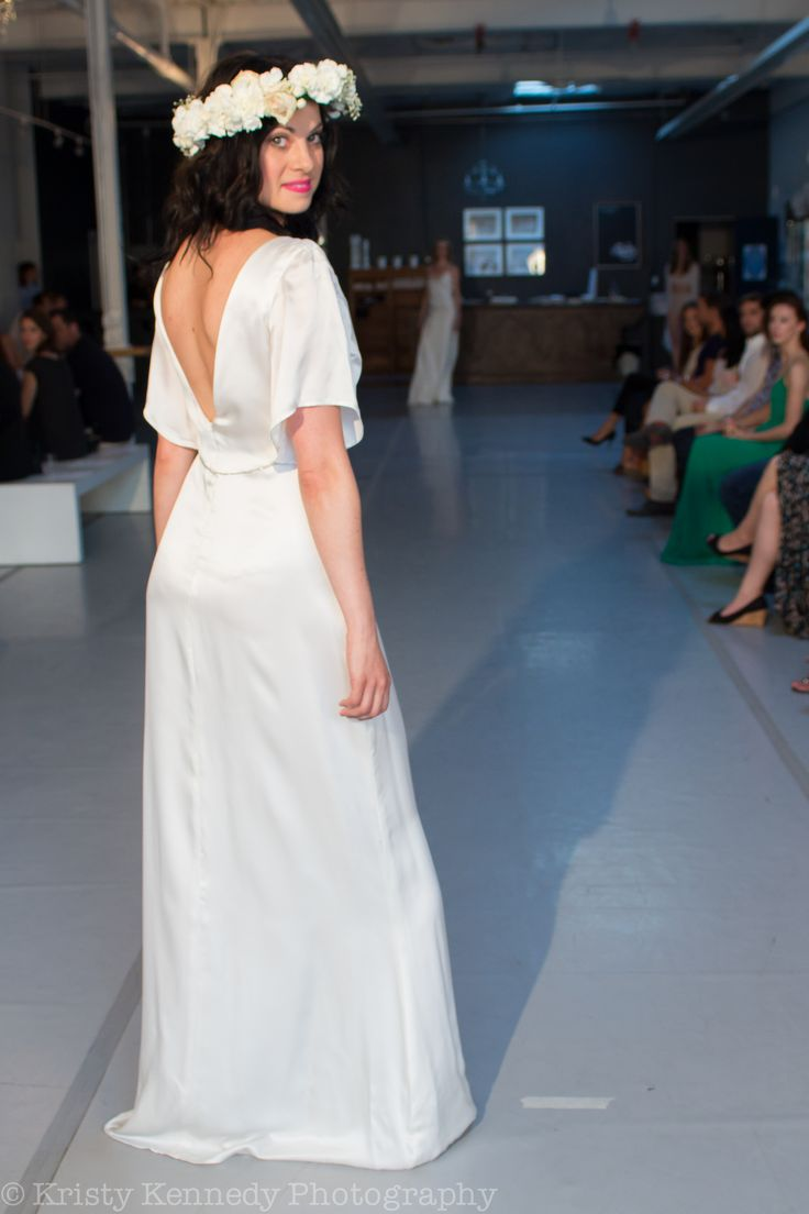 RUNWAY: Bohemian bride - 'Ashley' silk dress with the 'Alexa' flower crown. andforlove.com