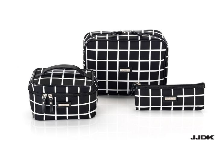 JJDK Premium SS16 Collection  #black #and #white #checkered #beautybags #cosmeticbags #beautybox