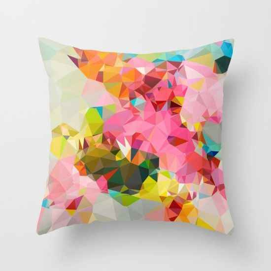 COTTON CANDY Throw Pillow by MESSYMISSY76
