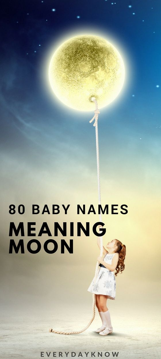 80 Baby Names Meaning Moon