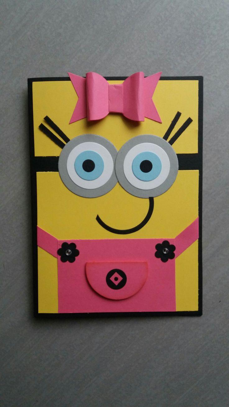 Миньон открытка с днем рождения своими, для подружек картинках