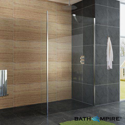 1200mm shower screen u0026 250mm return panel easyclean walk in shower kit bathempire