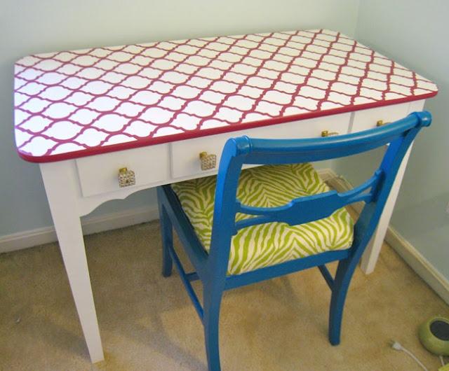 great idea for a fun table top redo