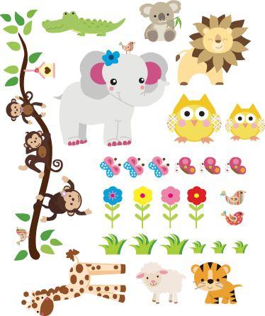 Vinilo infantil sticker selva   bebe   Pinterest   Baby, Printables ...