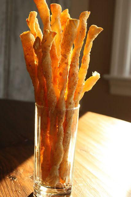 Parmesan Puffed Pastry Bread Sticks