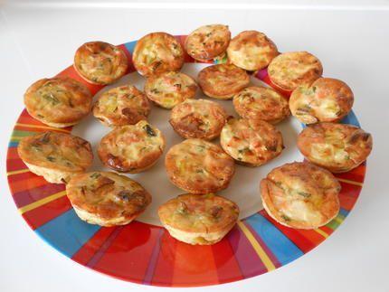 Bouchées+apéritives+aux+poireaux+et+saumon+fumé.