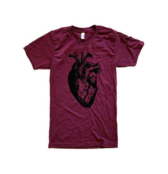 Heart T-Shirt  Anatomical Heart American Apparel by friendlyoak