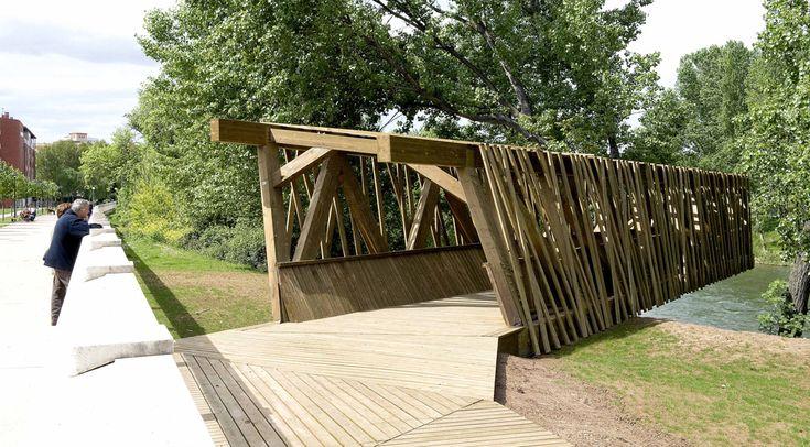07 observatoire d'oiseaux rio ebro «architecture du paysage Travaux   Landezine architecture du paysage Travaux   Landezine