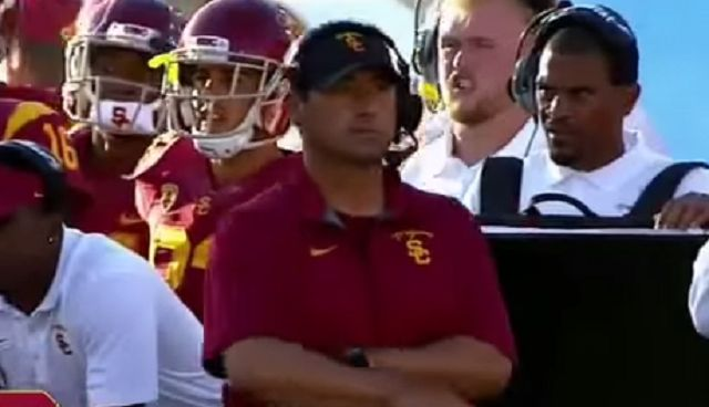 Report: USC Coach Steve Sarkisian Showed Up Drunk To Team Meeting, May Have Been Inebriated While Coaching Game Vs ASU
