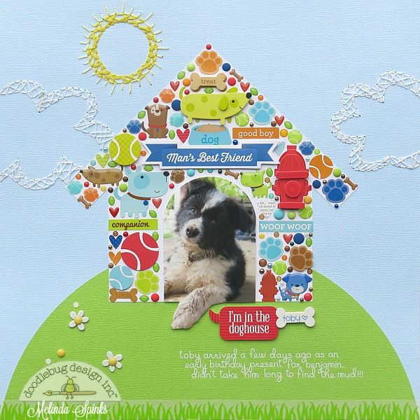 Doodlebug Design Inc Blog Puppy Love Collection Im In The Doghouse Layout