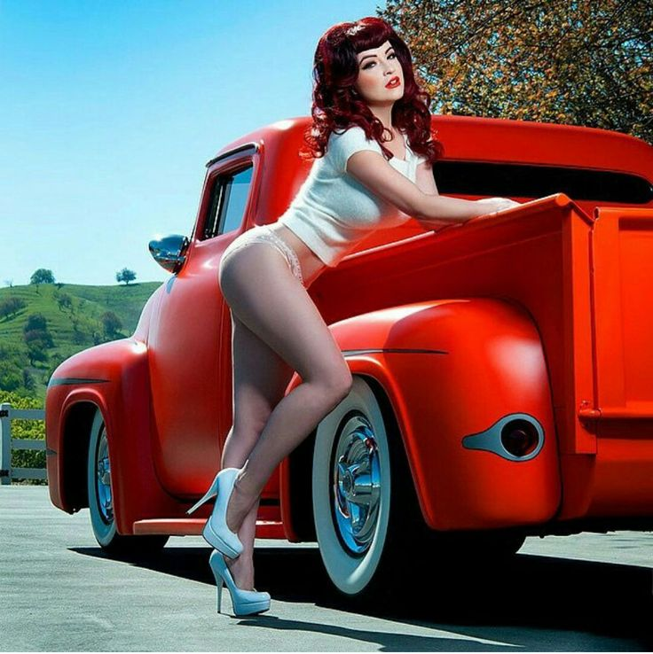 sexy girls with hot rod trucks