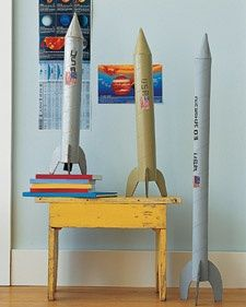 This must be why I have been collecting paper towel tubes for two years!  You dont have to be a rocket scientist to build one of these svelte spacecrafts. All youll need is the right stuff: cardboard, glue, tape, and a big dose of aeronautic creativity.