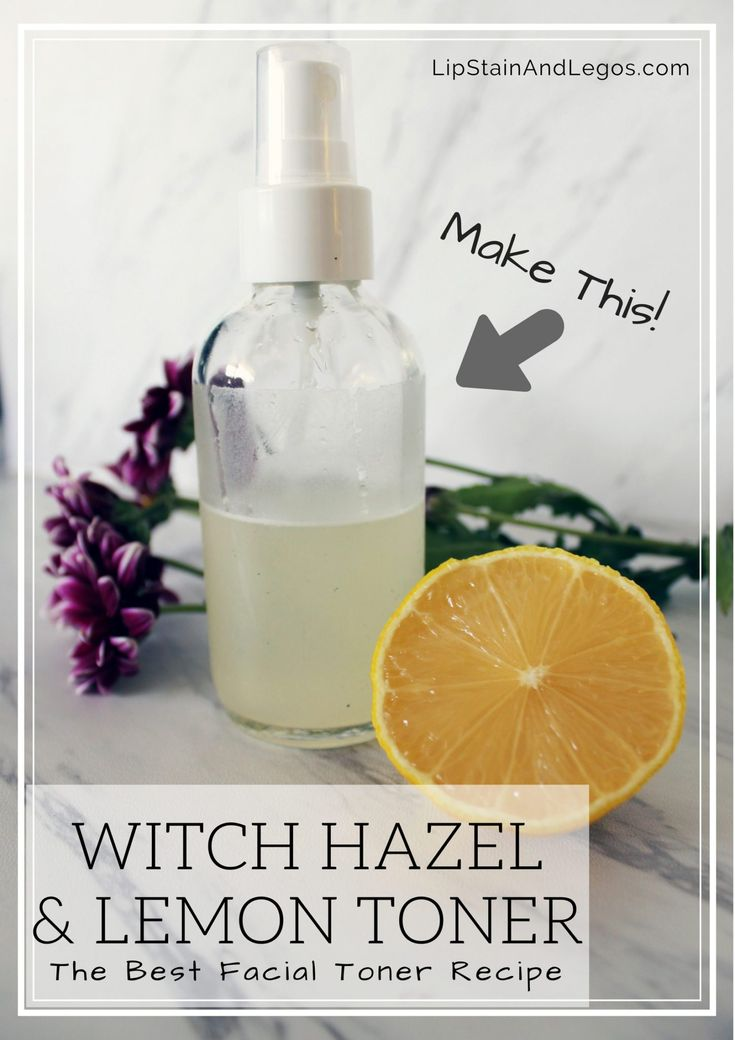 Make your own DIY Facial Toner with Witch Hazel and Fresh Lemon Juice with this easy beauty recipe