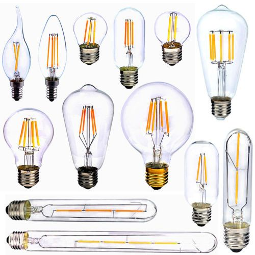 E27-E14-2-4-6-8W-Edison-Retro-COB-LED-Lampadine-Lampada-Filament-Luce-Xmas-Bulbo