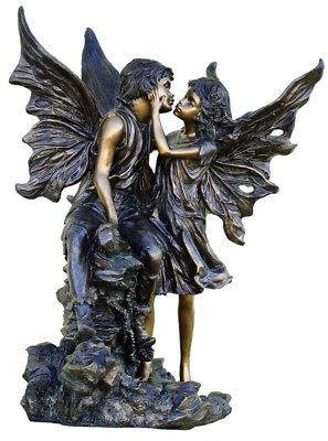 Large Outdoor Garden Sculpture Fairies Lovers Kissing