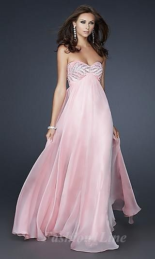 183 best images about Pink Prom Dresses on Pinterest | Beaded prom ...