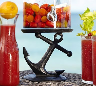 Anchor Drink Dispenser Stand | Pottery Barn | Perfect for my pool bar