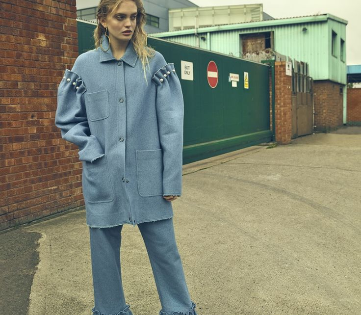 Full MOP denim look from SS17 on Vogue ItalyPh by Petros StudioStyled by Lorna McGeeMake Up Samanta FalconeHair Adrian ClarkModel Ella Wennstrom