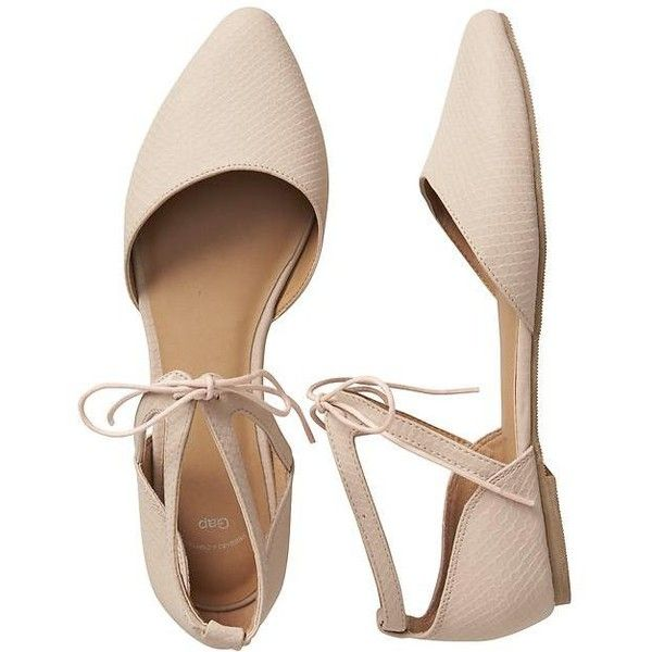 Gap Women Lace Up D'orsay Flats (€21) ❤ liked on Polyvore featuring shoes, flats, sandals, sapatos, laced flats, ankle strap flat shoes, flat pointed-toe shoes, pointy toe ankle strap flats and lace up d orsay flats