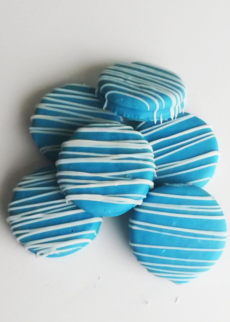 50 Shades of Blue Chocolate Covered Oreos - Baby Boy Christening by PNutsCreations on Etsy