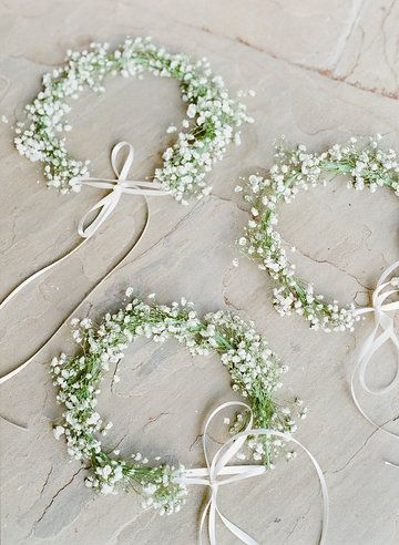 Photo from Siria and Lawson - Wedding collection by The Happy Bloom. Baby's breath flower crowns.