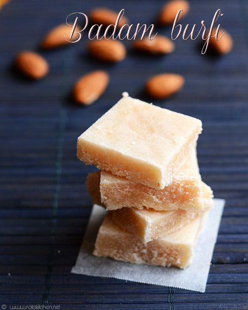 Badam burfi recipe | Diwali sweet recipes with step by step pictures!