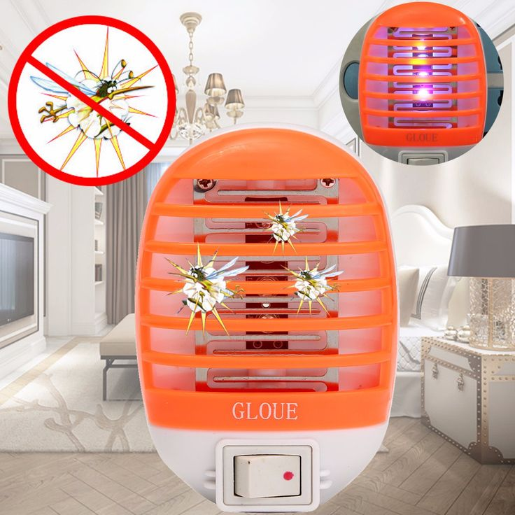 Electric Mosquito Fly Bug Insect Trap Zapper Killer LED Night Lamp US Plug 220V
