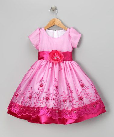 Take a look at this Fuchsia Organza Embroidered Dress - Toddler & Girls by Kid Fashion on #zulily today!