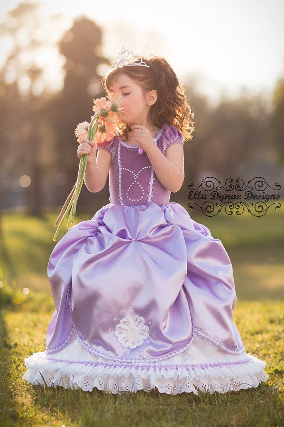 Click here to shop Sofia the First Disney Inspired Princess Gown Costume by Ella Dynae, $310.00 https://www.etsy.com/listing/184206161/sofia-the-first-disney-inspired-princess?ref=shop_home_active_6