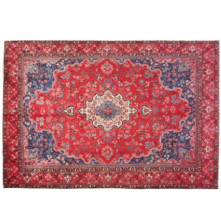 """12'5"""" x 8'9"""".Traditional area rug for sale, Oriental floor carpet, Antique Persian rug for living room, Floral Pattern, Code : S0101468"""