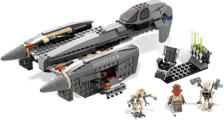 LEGO General Grievous' Starfighter 8095 uit thema Star Wars  General Grievous keert terug van zijn geheime schuilplaats om zijn volgende aanval tegen de Republic te plannen en wordt aangevallen door de Jedi Knight Nahdar Vebb. De Leukste LEGO bestel je online bij https://www.olgo.nl/lego/star-wars.html