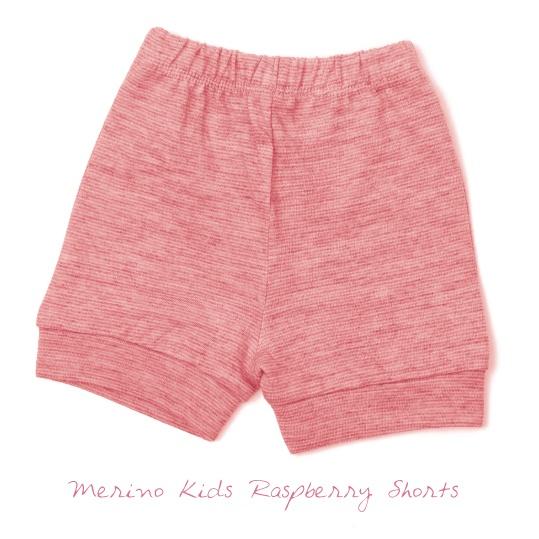 Merino Kids Raspberry Shorts