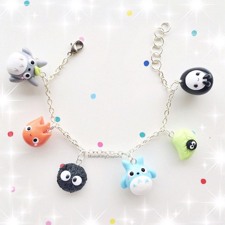 Studio Ghibli Kawaii polymer clay Charm Bracelet | I need this!!