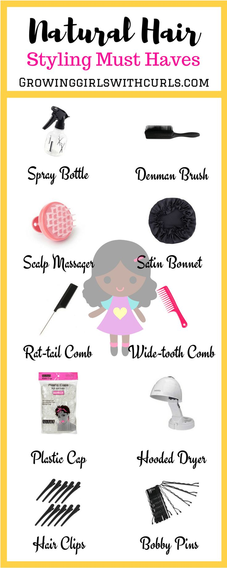 Natural hair styling must haves for beginner naturalistas.